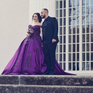 Wedding Dress dark violet-brown violet