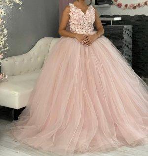 Vestido de novia rosa claro-rosa