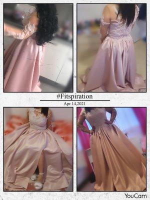 Vestido de baile rosa-gris claro