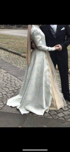 Bruidsjurk turkoois-goud