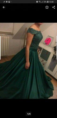Vestido de novia verde bosque