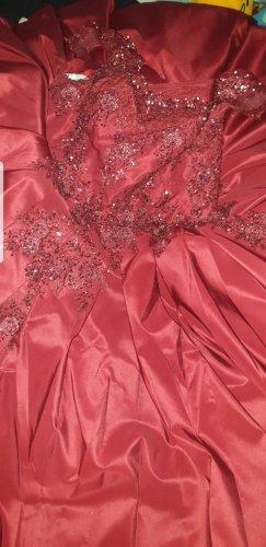 Wedding Dress dark red-carmine
