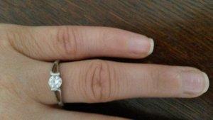 Verlobungsring aus 925 silber