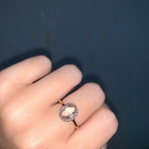 Silver Ring rose-gold-coloured-gold-colored