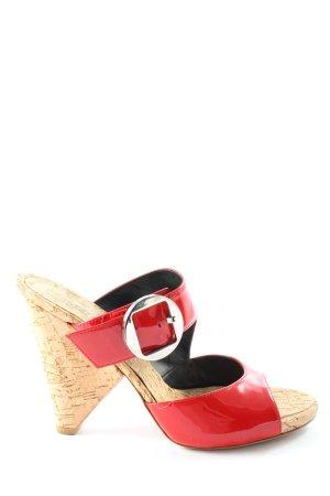 Vero Cuoio Mule à talon rouge-rose chair style décontracté