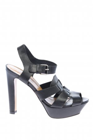 Vero Cuoio High Heel Sandaletten schwarz Glanz-Optik