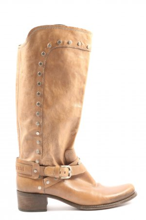 Vero Cuoio High Heel Boots brown-silver-colored casual look