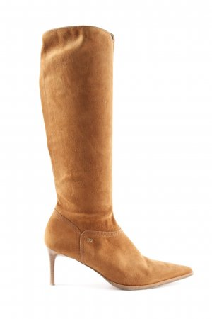 Escada High Heel Boots cognac-coloured simple style