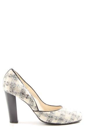 Vero Cuoio High Heels weiß-schwarz Karomuster Business-Look