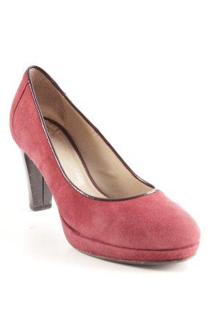 Vero Cuoio High Heels bordeauxrot-schwarz Elegant