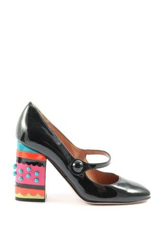 Vero Cuoio High Heels schwarz-pink Business-Look