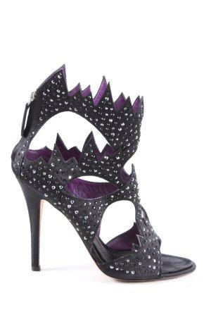 Vero Cuoio High Heels schwarz extravaganter Stil