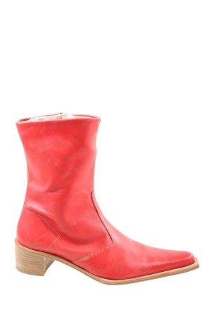Vero Cuoio Krótkie buty czerwony W stylu casual