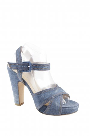 Vero Cuoio Riemchen-Sandaletten blau Jeans-Optik