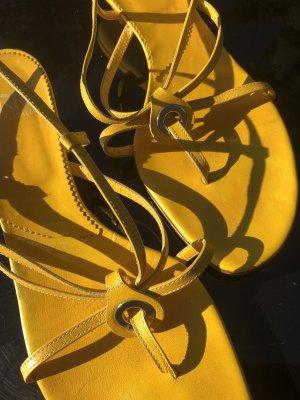 Vero Cuoio Sandalen Gr 38, tolles Gelb!!!