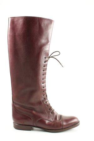 Vero Cuoio Kozaki sznurowane czerwony W stylu casual