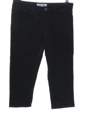 Vero Moda Jeansy 3/4 czarny W stylu casual