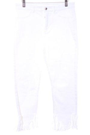 Vero Moda 7/8 Jeans weiß Casual-Look