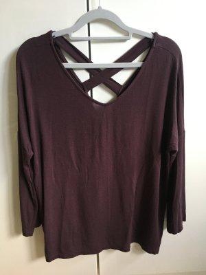 Vero Moda 7/8 Langarm-Shirt Weinrot Casual-Look