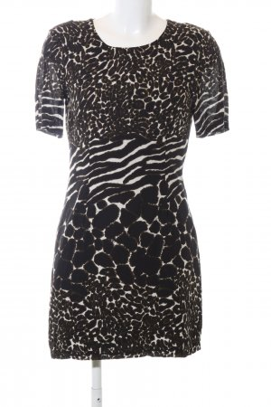 Vero Moda A-Linien Kleid schwarz-wollweiß Animalmuster Casual-Look