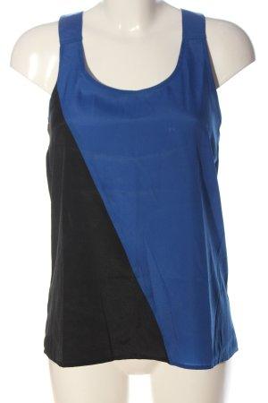 Vero Moda Top o kroju litery A czarny-niebieski W stylu casual