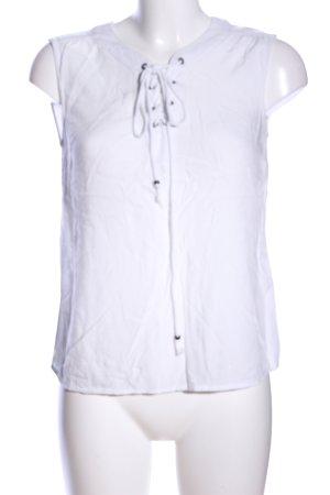 Vero Moda Top o kroju litery A biały W stylu casual
