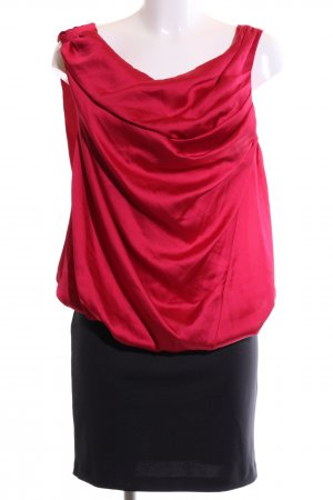 Vero Moda Abendkleid rot-schwarz Business-Look