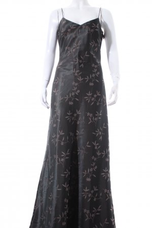 Vero Moda Abendkleid grüngrau-beige florales Muster Elegant