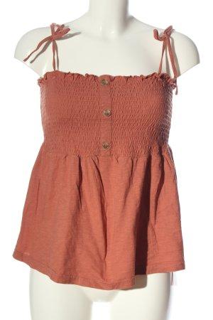 Vero Moda ärmellose Bluse hellorange Casual-Look