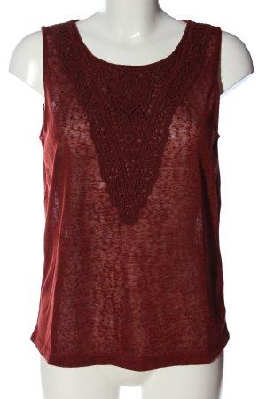 Vero Moda ärmellose Bluse rot meliert Casual-Look