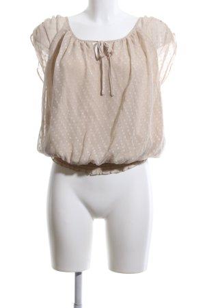 Vero Moda ärmellose Bluse wollweiß Punktemuster Elegant