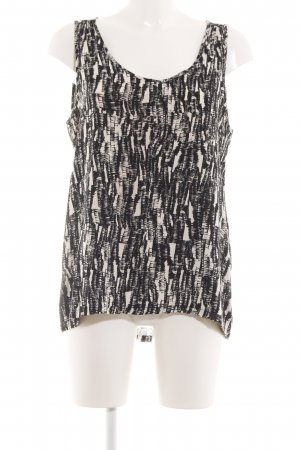 Vero Moda ärmellose Bluse schwarz-wollweiß abstraktes Muster Casual-Look