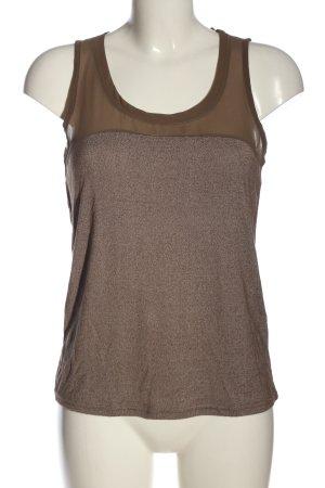Vero Moda Blouse topje bruin-wit gestippeld casual uitstraling