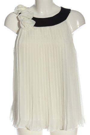 Vero Moda ärmellose Bluse weiß-schwarz Elegant