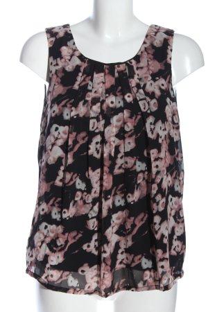 Vero Moda ärmellose Bluse schwarz-pink Blumenmuster Casual-Look