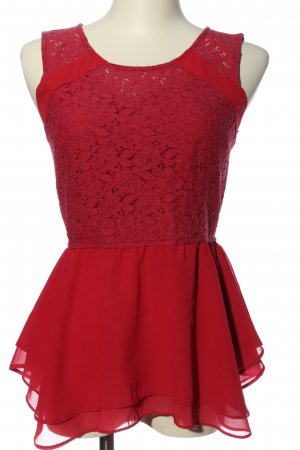 Vero Moda ärmellose Bluse rot Elegant