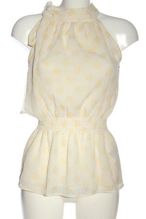 Vero Moda Blouse sans manche blanc cassé-crème imprimé allover élégant