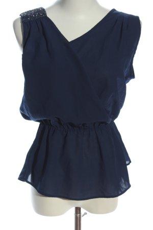 Vero Moda ärmellose Bluse blau Elegant