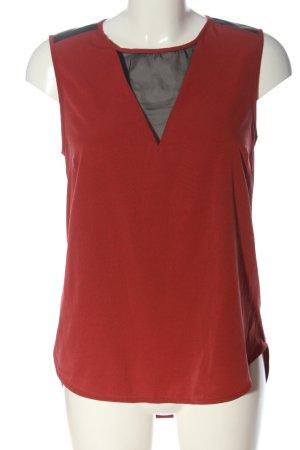 Vero Moda ärmellose Bluse rot-schwarz Casual-Look