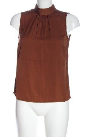 Vero Moda Blusa sin mangas marrón estilo «business»