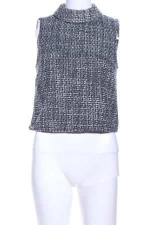 Vero Moda ärmellose Bluse schwarz-weiß meliert Business-Look