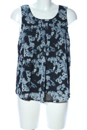 Vero Moda Blusa sin mangas azul-negro estampado con diseño abstracto