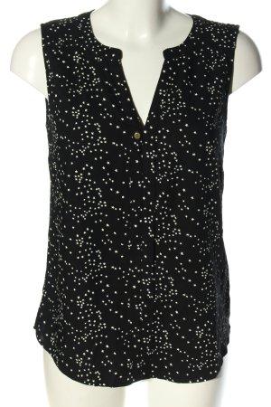 Vero Moda ärmellose Bluse schwarz-weiß Allover-Druck Casual-Look