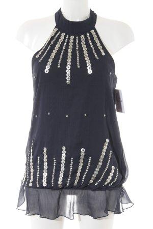Vero Moda ärmellose Bluse dunkelblau Casual-Look