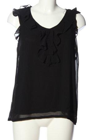 Vero Moda ärmellose Bluse schwarz Casual-Look