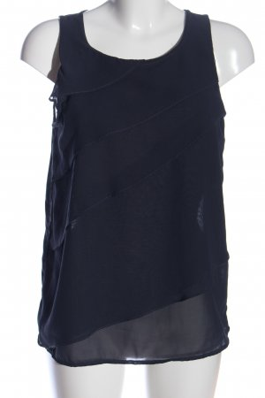 Vero Moda ärmellose Bluse blau Casual-Look