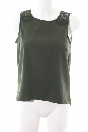 Vero Moda ärmellose Bluse khaki Blumenmuster Casual-Look