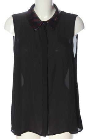 Vero Moda ärmellose Bluse schwarz Elegant