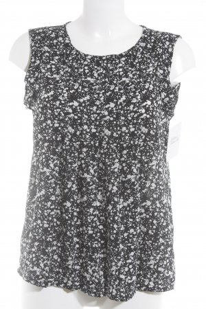 Vero Moda ärmellose Bluse schwarz-weiß