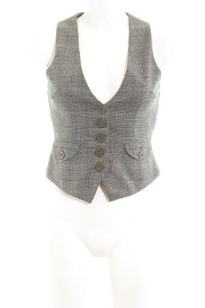 Vero Moda Anzugweste graubraun-blau Karomuster schlichter Stil
